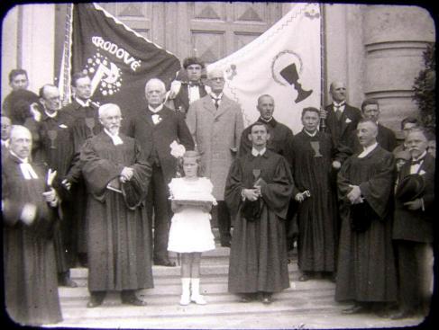 Ebenetzer Otter při otevření kostela