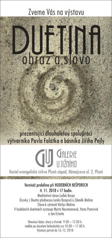 Hudební nešpory - vernisáž výstavy DUETINA @ Chrám Mistra Jana Husi