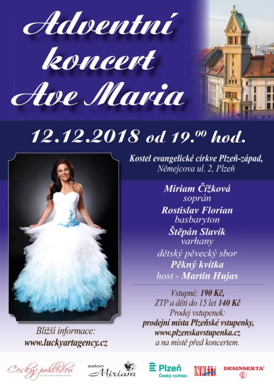 Adventní koncert - Ave Maria @ Chrám Mistra Jana Husi