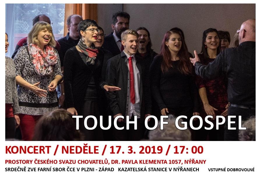 Nýřany: Koncert - TOUCH OF GOSPEL @ Kazatelská stanice Nýřany