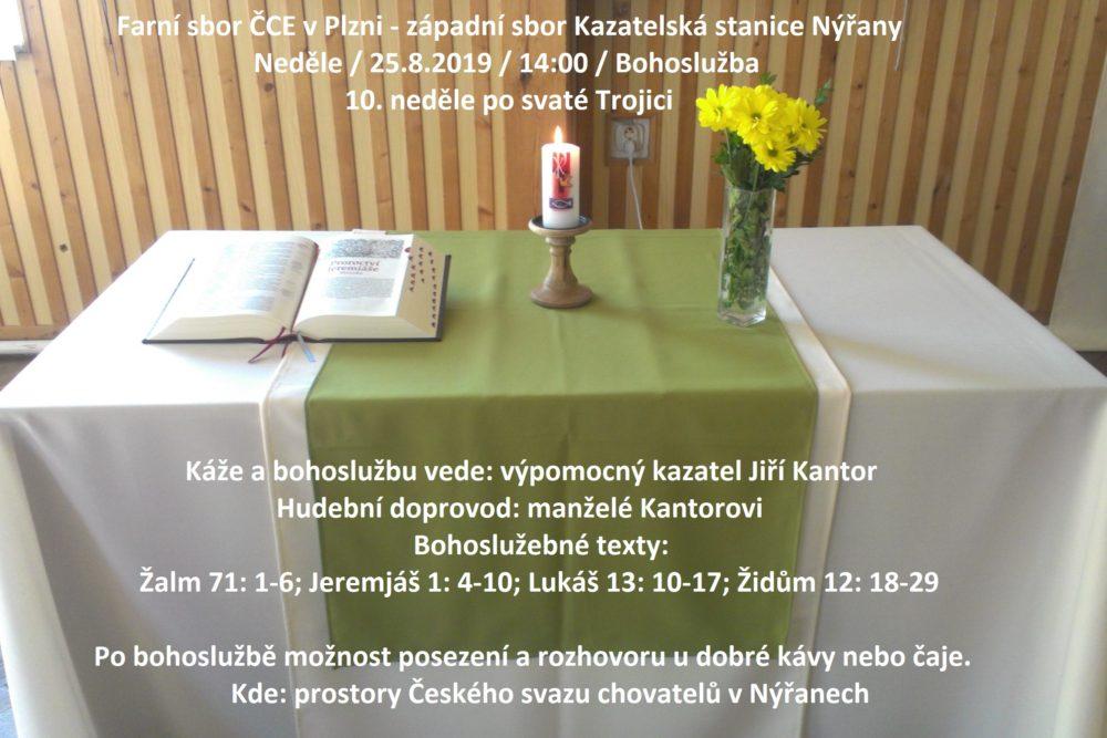 Nýřany: Bohoslužby @ Kazatelská stanice Nýřany