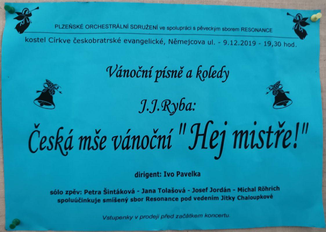 Koncert - Plzeňské orchestrální sdružení a sbor Resonance @ Chrám Mistra Jana Husi